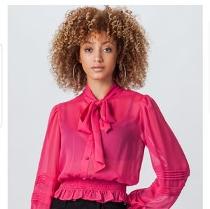 Jealous Tomato Blouse w/Bowtie & Peasant Sleeves